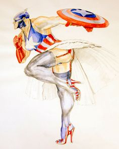 Heroes are ordinary people who make themselves extraordinary. #Crossdressing #Art #Superman