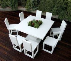 Bysteel's Patio Furniture Has Blossoming Floral Centers #patio #outdoorfurniture trendhunter.com
