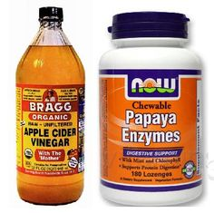 DIY Facemask: Crush 2 papaya enzymes, add about 1tsp raw apple cider vinegar and a bit of water. They say distilled is best but can just use tap. Mix it together and apply to the face and neck and leave it on for about 20 minutes. It's a bit sticky but it cleans out your pores beautifully and gives you a wonderful glow.