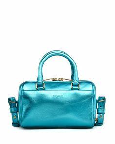 Shop now: Saint Laurent Metallic Duffel Toy Saint Laurent Bag