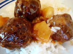Pineapple meatballs