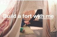 Not gonna lie... fort building is one of my favorite pastimes.