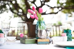 tulips+mason jars=genius