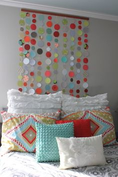 paper headboard2__have to try to make some pillow covers like these. <3