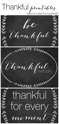 Thankful printables