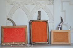 Pumpkin frames! You're going to love this easy and adorable project :).