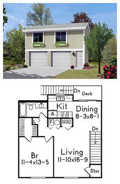 Garage apartment plans on pinterest garage apartment for Garage with upstairs apartment