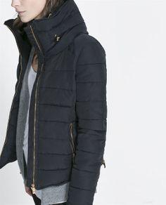 COMBINED PUFFER ANORAK from Zara combin anorak, winter jackets, zara, collar, short combin, puffer anorak, bomber jackets, winter coats, cold weather