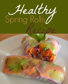 Can't get enough Thai food? Make these healthy, CSA-friendly healthy spring rolls at home! #FBEComfortFood