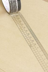 "Ruler transparent tape by ""made in paper"""