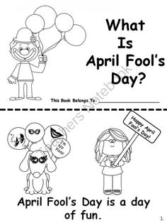 April Fools Day Easy Reader from Melissas Corner on TeachersNotebook.com -  (5 pages)  - Have your kids learn all about April Fool's day with this easy reader.