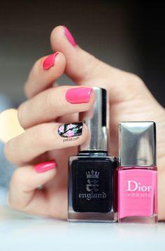 DIOR ROSE #nailart #nails #manicure
