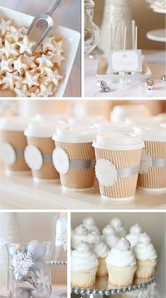 Wedding Blog / Winter Wedding Trends & Inspiration by COLOURlovers :: COLOURlovers christmas parties, winter parties, birthday, chocolates, hot chocolate, white christmas, coffee cups, winter wonderland party, winter weddings