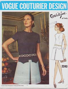 1960s Vogue Couturier Design Pattern 2243 Galitzine by CloesCloset, $42.00 #60s #retro #vintage