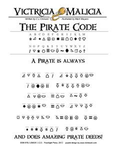 The Pirate's Code ...great for tables for boys to do