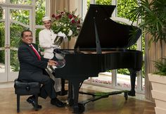 """With the """" #Hollywood #Piano Legend"""" programme, you can enjoy a unique, personalized one-on-one lesson, as well as a relaxing lunch with our resident pianist Antonio Castillo de la Gala. #Music #pianolessons #PenAcademy"""