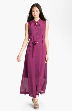 DKNYC Sleeveless Maxi Shirtdress available at Nordstrom