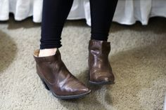 DIY cut-off cowboy boots; just sacrificed one of my pairs of beloved boots and love the result!