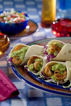 Wholly Guacamole Shrimp Wraps - Replace ranch or queso with Wholly Guacamole for a more nutritious way to enjoy your favorite tacos or wraps!