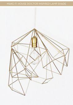 DIY Geometric Lamp Shade