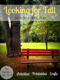 Printable Fall Journal & Observation Sheet Plus Fall Activities for Kids