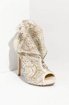 Alexander McQueen Bridal booties.