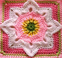 Eight Pointed Flower - free crochet pattern