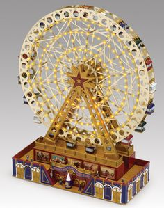 Mr. Christmas World's Fair Grand Ferris Wheel Music Box...CUTE!