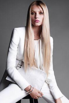 Grow, hair. Grow. work looks, straight hair, fashion models, style, harper bazaar, victor demarcheli, white, vika falileeva, october