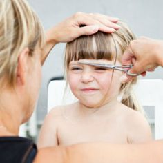 Do-It-Yourself Toddler Haircuts.   Even if you can't tell a bob from a shag, cutting toddler hair is fairly straightforward since there isn't much mane to manage. Here's how. Doityourself Toddler, Safety, Bobs, Toddler Bob Haircut, Babi, Toddlers, Toddler Haircut, Kid Worl