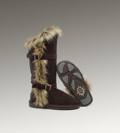 UGG Womens Fox Fur Tall Chocolate $200 : UGG Outlet, Cheap UGG Boots Outlet Online, 50%-70% Off!