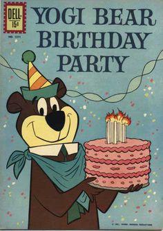 A Yogi Bear birthday to you. bear birthday, birthday card, happy birthdays, birthday time, birthday parties, comic books, vintag birthday, happi birthday, brother bear