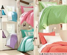 Good bunk bed ideas for the girls' future room.
