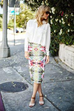 Nordstrom Multicolor Patterned Knee Length Skirt