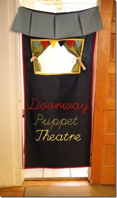 doorway puppet theater- this looks fun and easy to make!