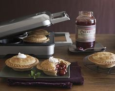 WHAAAT. a MINI PIE MAKER?!?1!!?!?  So going on the registry...