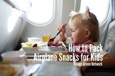 pack airplan, airplan snack, kid