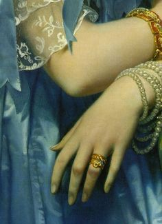 Princess Albert de Broglie (detail), Jean Auguste Dominique Ingres, 1853