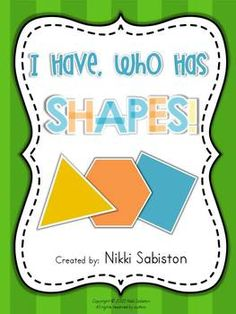 I Have Who Has - SHAPES freebie