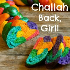 Challah back, girl! Rainbow challah bread recipe. Fun for pride or anytime!
