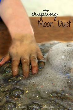How to make erupting moon dust - a recipe for play combined with a prewriting activity