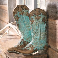 - Brown & Turquoise Boots
