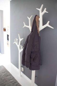 Wall tree coat racks.