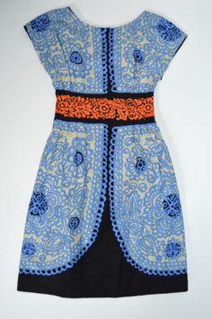 NWT-Marimekko-Trissa-Printed-Blue-Pattern-Dress-32-2-XS-328