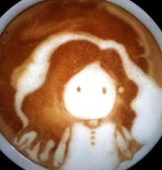 #Girl #latte ·:*¨¨*:Coffee♥Art:*¨¨*:· #coffee
