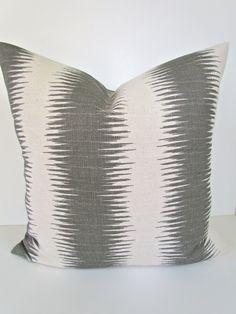 THROW PILLOWS 18x18 ikat Throw Pillow Covers 18 x 18 Gray pillow shops Decorative Throw pillows on Etsy, $18.95