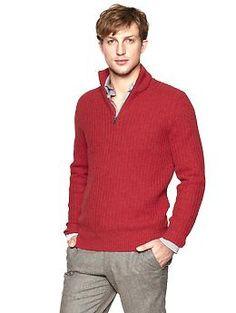 Half-zip waffle sweater | Gap