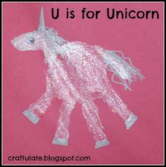 unicorn crafts - handprints