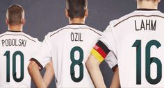 Lukas Podolski, Mesut Özil, and Philipp Lahm