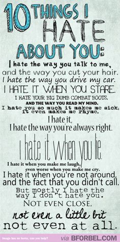 10 Things I Hate About You. Such a great movie.